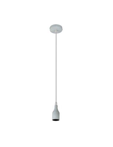 Pendul metal optic ciment aspect antracit, 1 bec, dulie E27, A23
