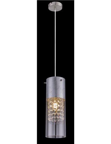 Pendul nichel mat argintiu, 1 bec, dulie E27, Globo 15908-1S