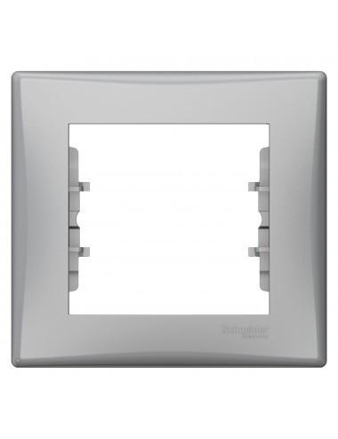 Rama simpla orizontala, Aluminiu, IP20, Schneider Sedna