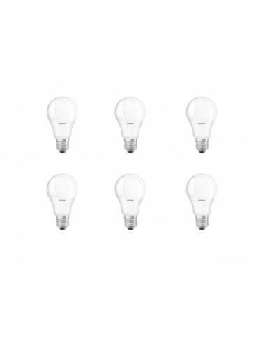 Set 6 becuri led 8.5W(60W), E27, 806 lm, A+, lumina alba naturala, Osram