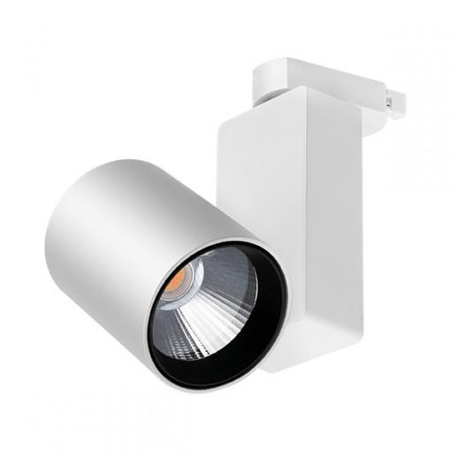 Spot LED pe sina, 30W, lumina calda(3000 K), 2600 lm, alb, Braytron Plus