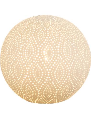 Veioza portelan alba mata, 1 bec, dulie E14, Globo 22801