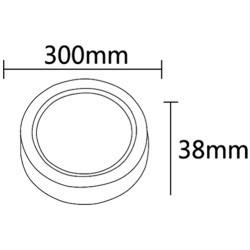 Aplica LED 24W rotunda, lumina naturala(4200K), alba, IP20, Braytron