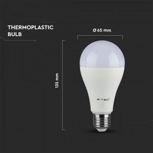 Bec led 17W(100W), E27, cip Samsung, 1521 lm, A+, lumina calda, V-TAC