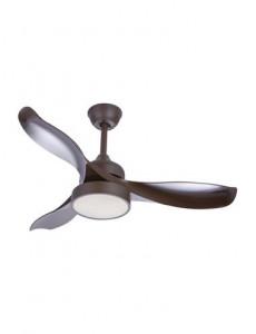 Candelabru cu ventilator Globo 03610, 1 bec, satin, alb