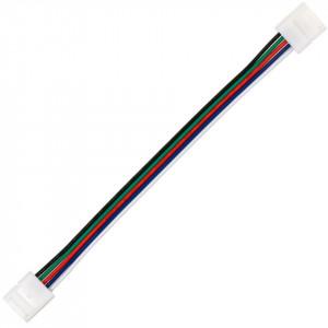 Conector dublu banda led RGBW cu 15 cm cablu