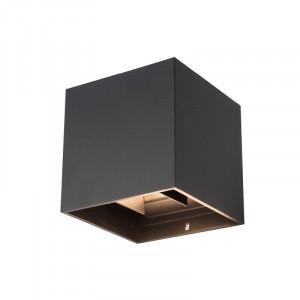 Corp led exterior 2x4W, unghi lumina reglabil, negru, lumina calda, Kobi