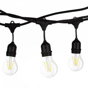Ghirlanda luminoasa 15 metri + 15 becuri vintage LED 4W, protectie IP44