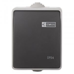 Intrerupator alternativ, 10A, montaj aplicat, protectie IP44, pentru exterior,Emos