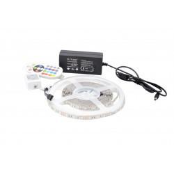 Kit Banda LED 5050 IP20 RGB 60 leduri/metru 5 metri+ alimentare + controller