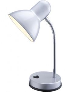 Lampa de birou crom argintiu, 1 bec, dulie E27, Globo 2487