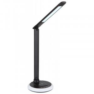 Lampa de birou LED 7W cu incarcare wireless, dimabila, temperatura de culoare ajustabila, baza RGB, neagra, 58402 Globo
