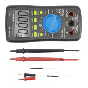 Multimetru digital universal, True RMS, Auto Range, masurarea temperaturii, teste de dioda si continuitate interval detectie 0-600 V, max. 10 A, Hogert Technik