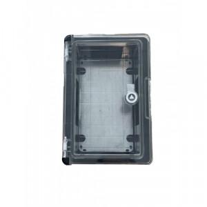 Panou 20x30x13 ABS IP65 usa transparenta Negru