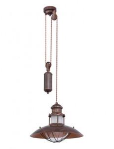 Pendul metalic maro, 1 bec, dulie E27, Globo 15355Z