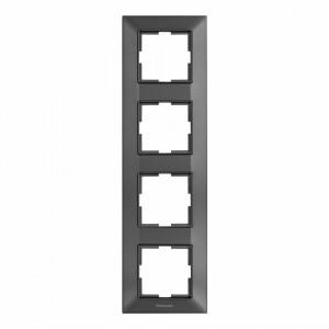 Rama 4 module, verticala, IP20, Grafit, Panasonic Arkedia Slim
