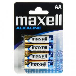 Set 4 baterii R6 AA Alkaline, Maxell