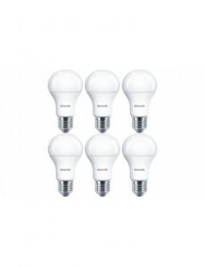 Set 6 becuri LED Philips, E27, 11W (75W), 1055 lm, A , lumina calda