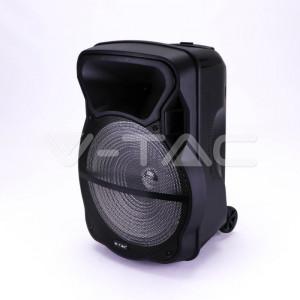 Boxa portabila V-TAC, reincarcabila, 50W, 1x 15 inch, microfon fara fir si microfon cu fir inclus