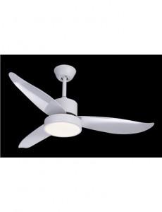 Candelabru cu ventilator Globo 03600, 1 bec, satin, alb