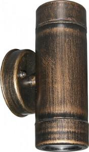 Corp exterior, auriu rustic, protectie IP65, 2 becuri, dulie GU10, Lumen