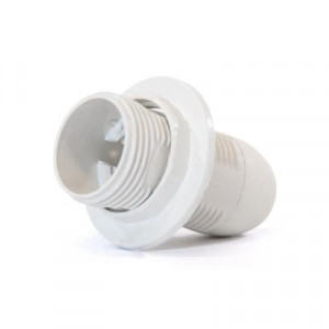 Dulie E14 plastic, cu inel, alba, Strohm