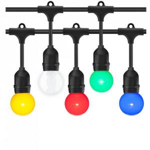 Ghirlanda luminoasa 15 metri + 15 becuri LED multicolore, protectie IP44