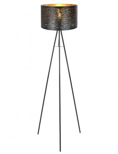 Lampada negru auriu, 1 bec, dulie E27, Globo 15342S