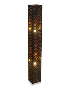 Lampadar negru auriu, 2 becuri, dulie E27, Globo 15229S2