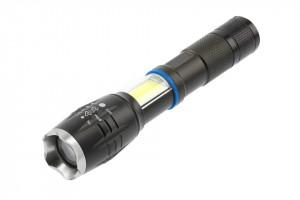 Lanterna LED 8W, 800 lm, functie Zoom si SOS, lumina rece(6400 K), IP44, alimentare cu 3 baterii AAA(neincluse) GTV