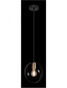 Pendul negru, 1 bec, dulie E27, Globo 15346-1
