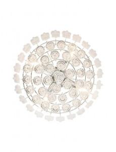 Pendul transparent cu cristale, 4 becuri, dulie E14, Globo 15303D