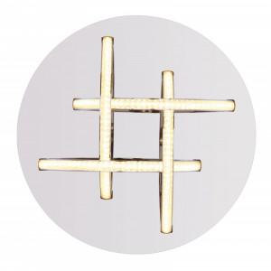 Plafoniera LED 15W Keana, flux luminos 900 lm, crom, 67126-15 Globo