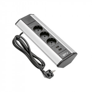 Prelungitor 3 prize, 1.5 metri +2 USB 2.1A, GTV