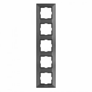 Rama 5 module, verticala, IP20, Grafit, Panasonic Arkedia Slim