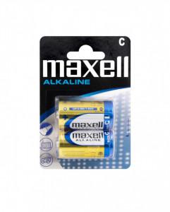 Set 2 baterii R14 Alkaline, Maxell