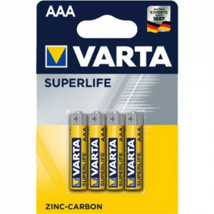 Set 4 baterii R3 AAA Zinc Carbon, Varta Superlife