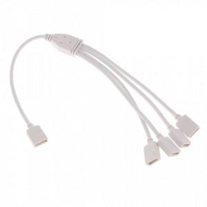 Splitter led RGB 1 intrare - 4 iesiri, cablu 30 cm