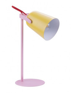 Veioza metal roz/galben, 1 bec, dulie E14, Globo 24811Y