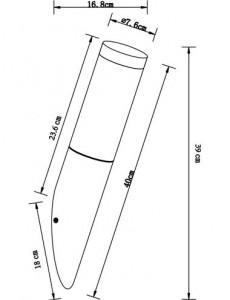 Aplica de exterior otel inoxidabil opala, 1 bec, dulie E27, Globo 3157