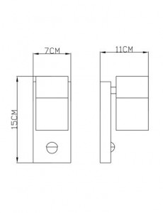Aplica de exterior otel inoxidabil sticla, 1 bec, dulie GU10, Globo 3201SL