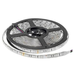 Banda led 24V RGB 60 leduri/m IP65 cu protectie la umiditate