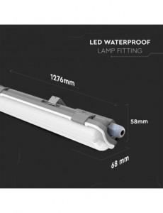 Corp led 1x10W etans IP65, tub inclus, 850 lumeni, lumina rece, 6400K, V-TAC