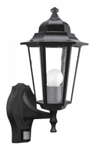 Felinar cu senzor Velence negru, 8217, Rabalux