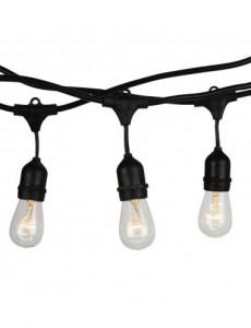 Ghirlanda luminoasa, 10 becuri, dulie E27, fara becuri, 5M, protectie IP54