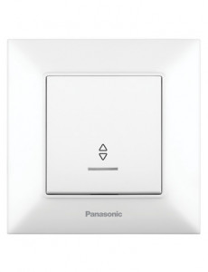Intrerupator alternativ cu led 10A, IP20, Alb, Panasonic Arkedia Slim
