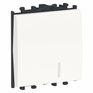 Intrerupator cu revenire cu led, alb, 2 module, Schneider Easy Styl