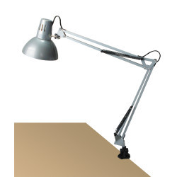 Lampa de birou cu clama Arno silver, 4216, Rabalux
