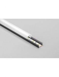 Profil aluminiu banda led aplicat, 2 metri, negru, GTV