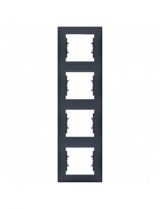 Rama 4 module verticala, IP20, Grafit, Schneider Sedna